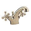 Bristan - Colonial Mono Basin Mixer w/ Pop Up Waste - Gold Plated - K-BAS-G profile small image view 1