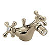 Bristan - Colonial Mono Bidet Mixer w/ Pop Up Waste - Gold Plated - K-BID-G Small Image