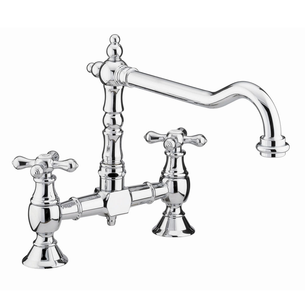 Bristan - Colonial Bridge Kitchen Sink Mixer - Chrome - K-BRSNK-C Large Image
