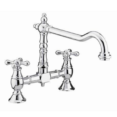 Bristan - Colonial Bridge Kitchen Sink Mixer - Chrome - K-BRSNK-C