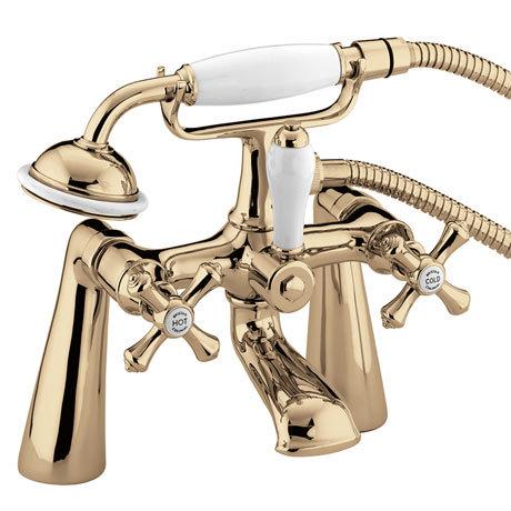 Bristan - Colonial Bath Shower Mixer - Gold Plated - K-BSM-G