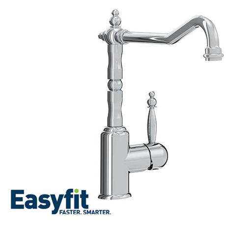 Bristan Colonial Single Lever EasyFit Kitchen Sink Mixer - K-SNKSL-EF-C