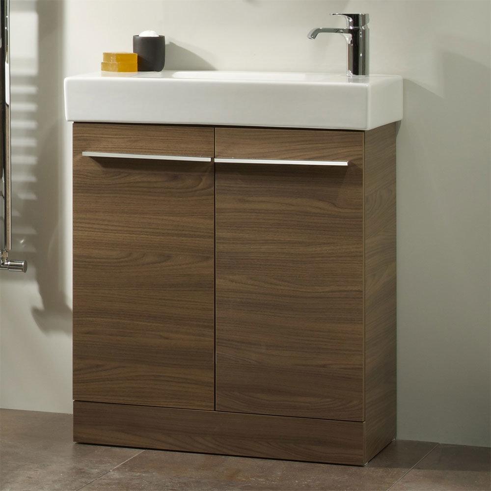 Tavistock Kobe 560mm Freestanding Unit & Basin - Walnut Standard Large Image