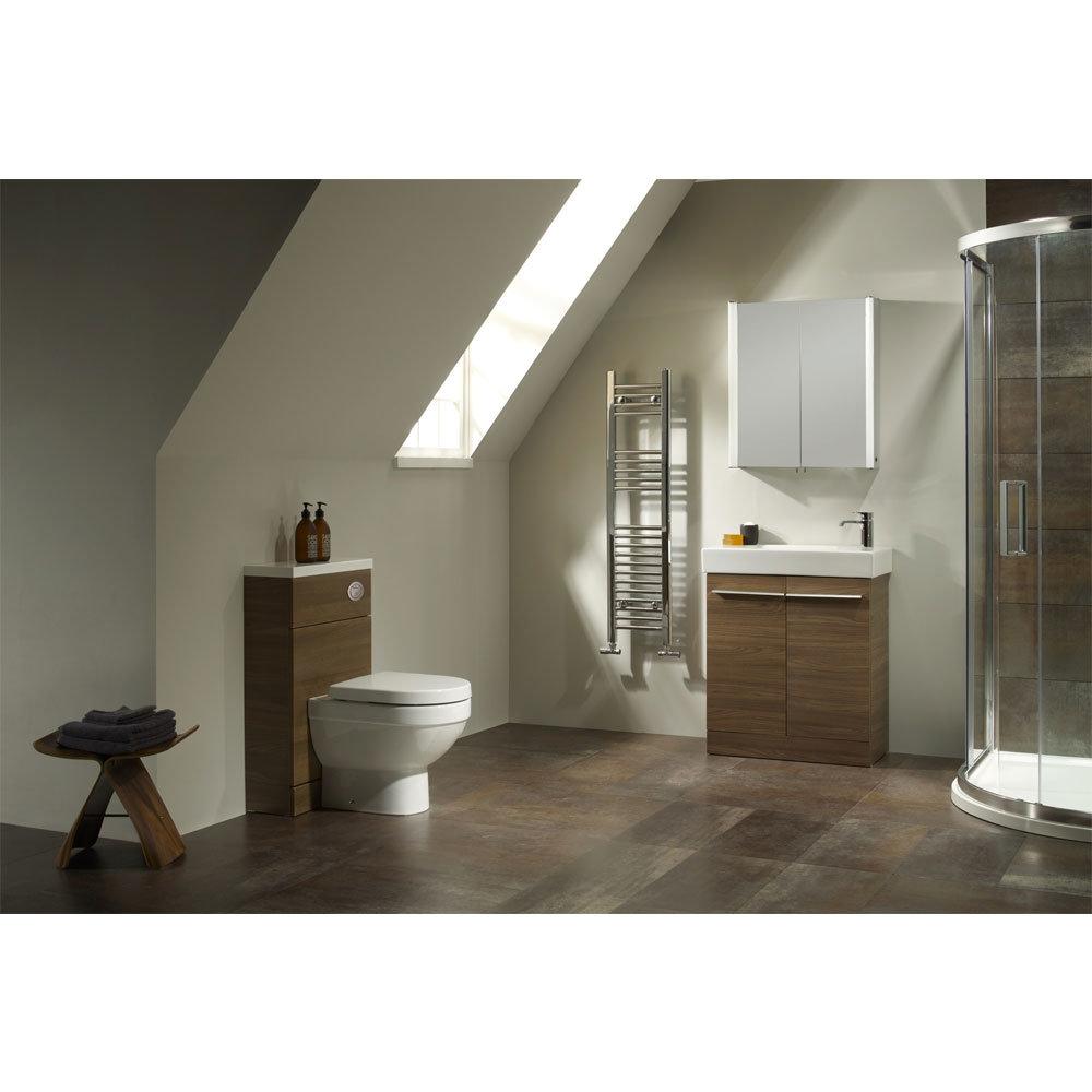 Tavistock Kobe 560mm Freestanding Unit & Basin - Walnut In Bathroom Large Image