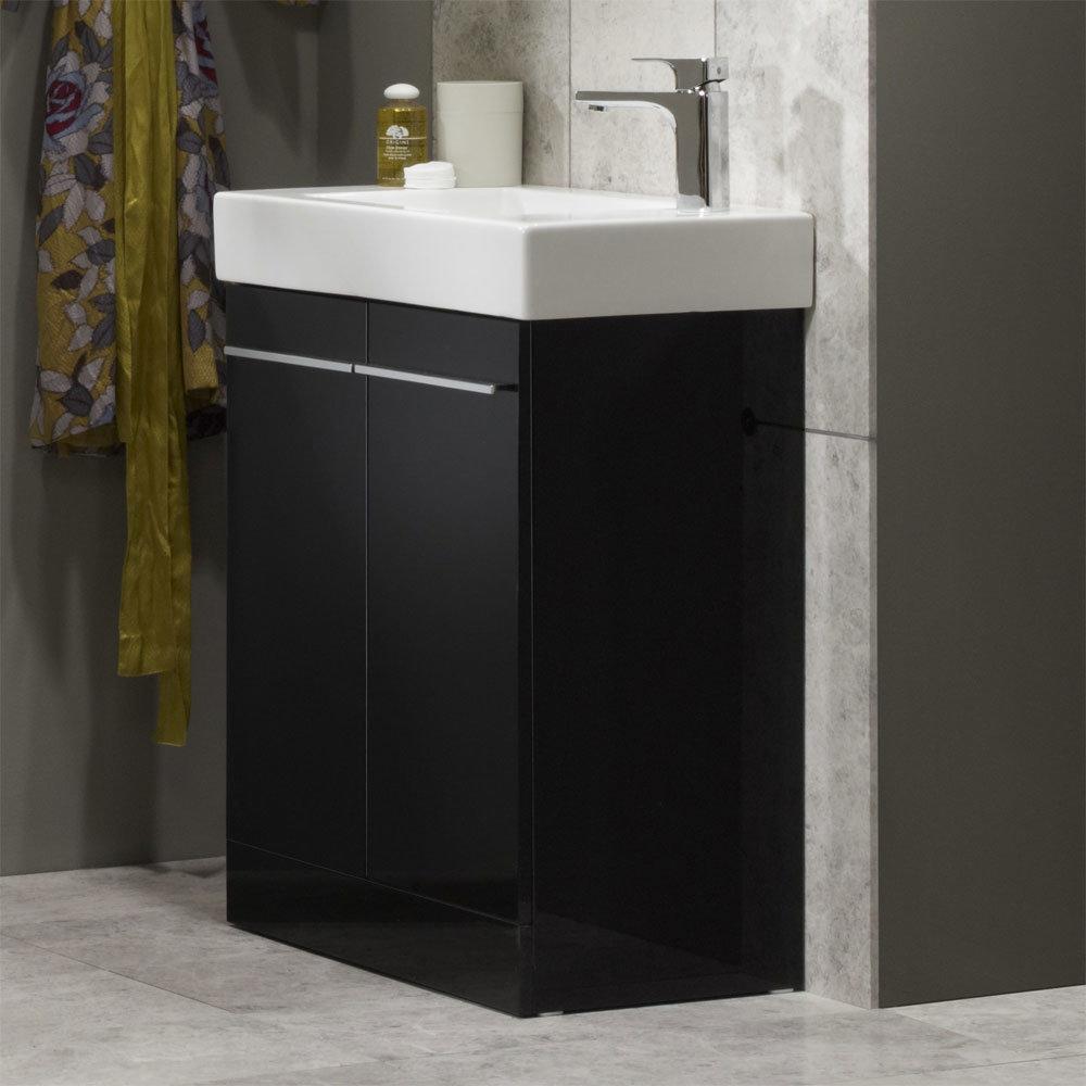 Tavistock Kobe 560mm Freestanding Unit & Basin - Gloss Black profile large image view 2
