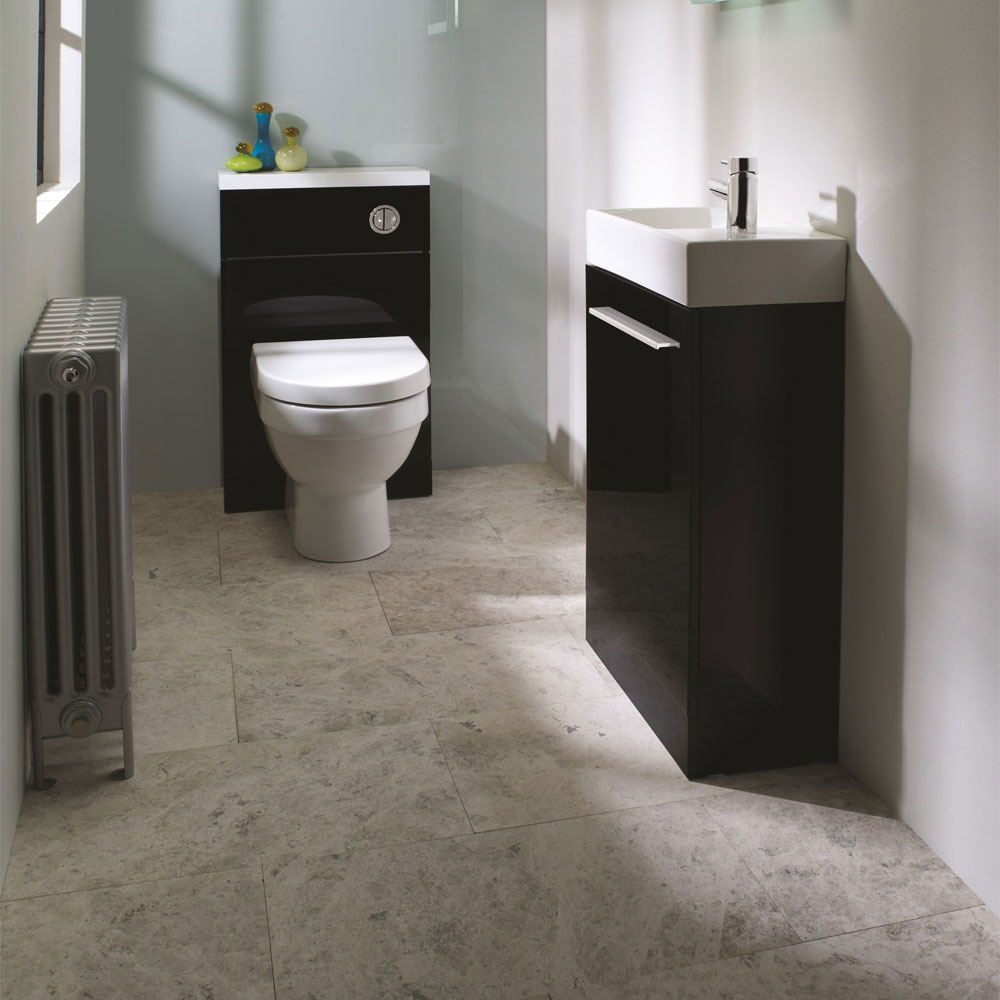 Tavistock Kobe 560mm Freestanding Unit & Basin - Gloss Black Feature Large Image