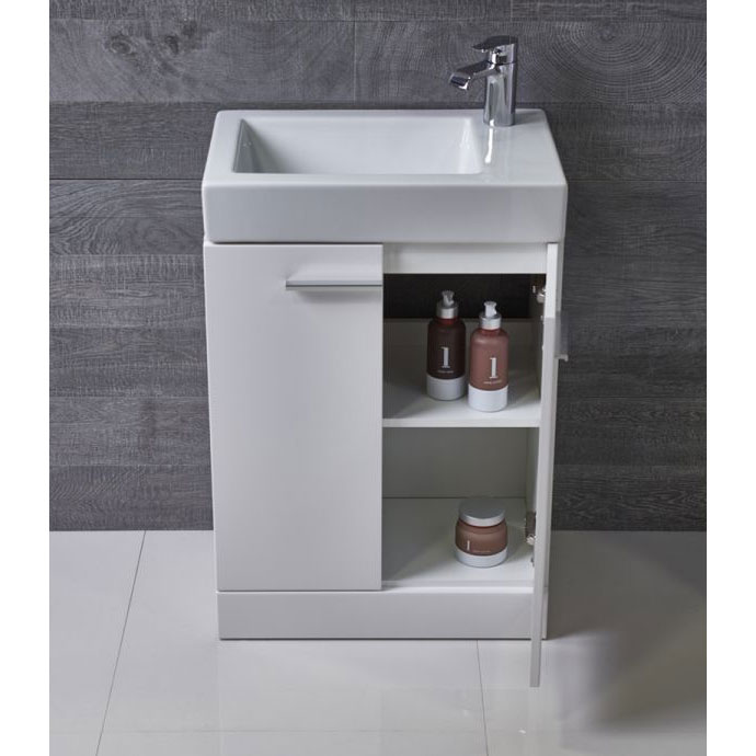 Tavistock Kobe 560mm Freestanding Unit & Basin - Gloss White Profile Large Image