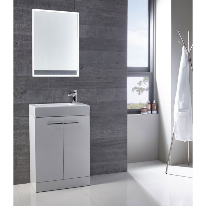 Tavistock Kobe 560mm Freestanding Unit & Basin - Gloss White Feature Large Image