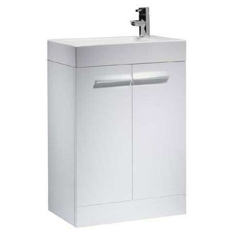 Tavistock Kobe 560mm Freestanding Unit & Basin - Gloss White