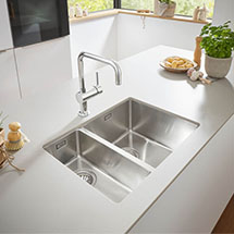 Superbe Grohe K700 1.5 Bowl Undermount Stainless Steel Kitchen Sink Medium Image