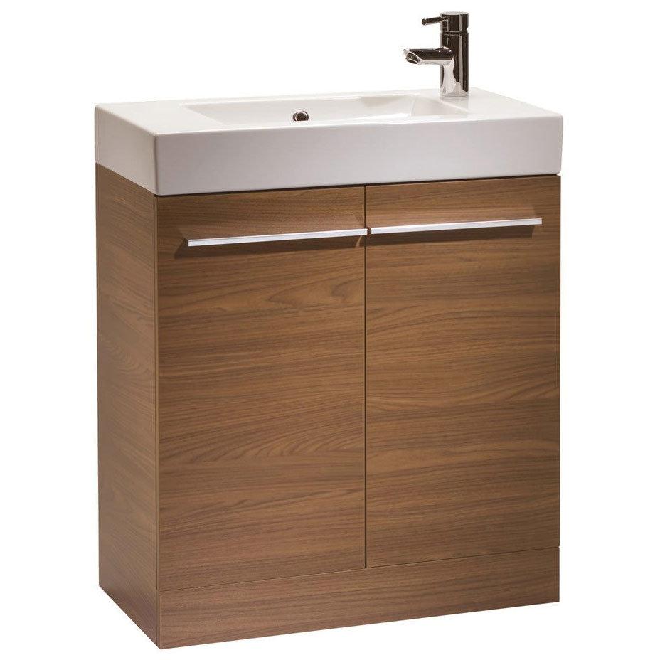 Tavistock Kobe 700mm Freestanding Unit & Basin - Walnut Large Image