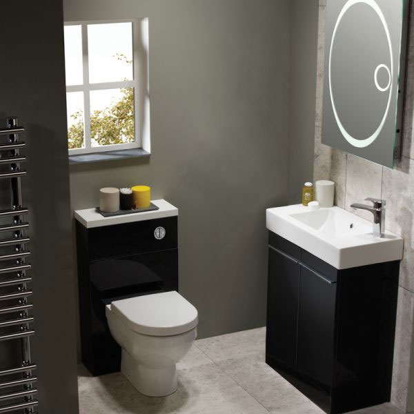 Tavistock Kobe 700mm Freestanding Unit & Basin - Gloss Black profile large image view 2