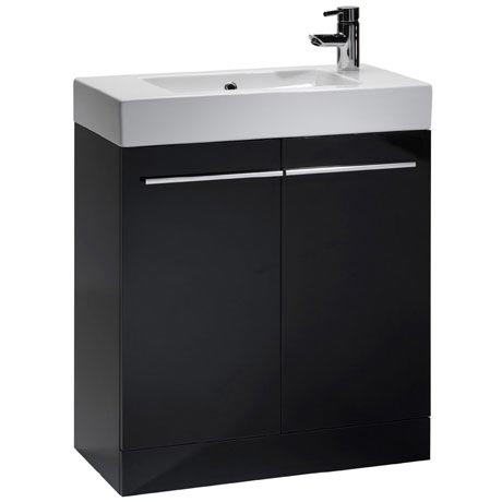 Tavistock Kobe 700mm Freestanding Unit & Basin - Gloss Black