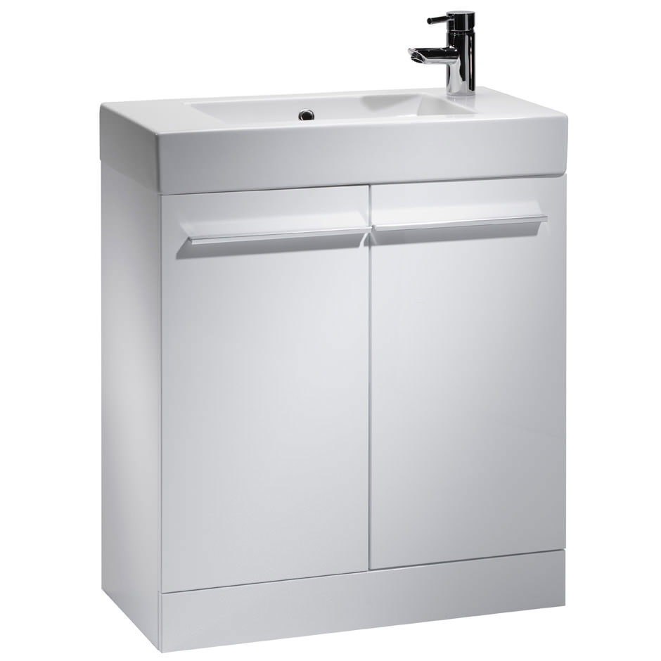 Tavistock Kobe 700mm Freestanding Unit & Basin - Gloss White Large Image