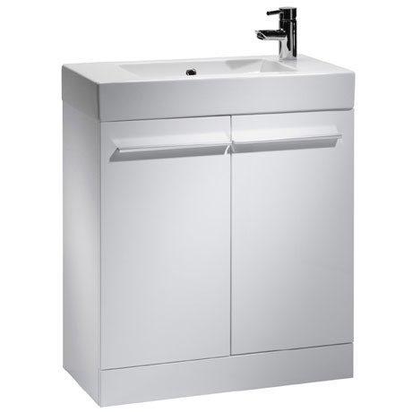 Tavistock Kobe 700mm Freestanding Unit & Basin - Gloss White