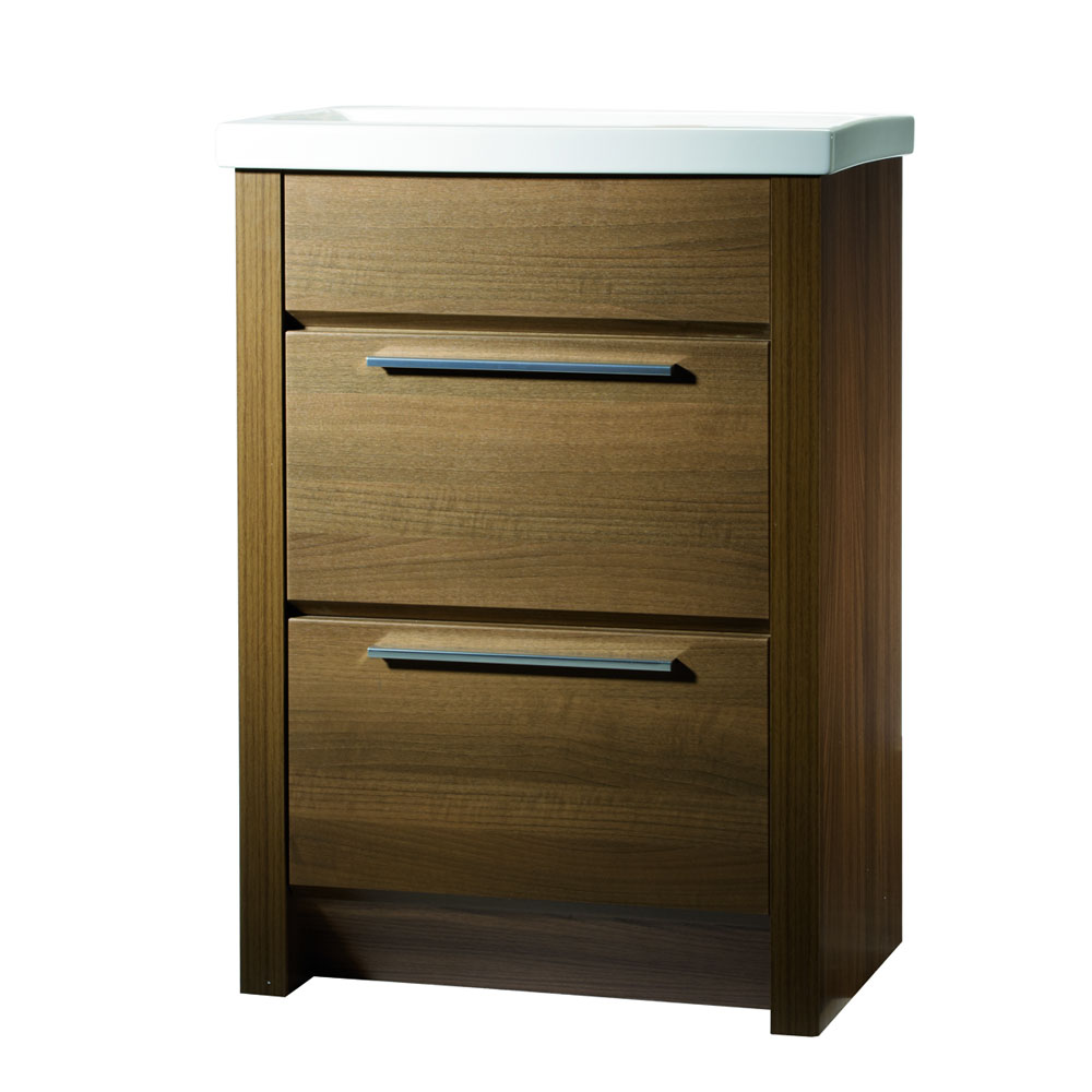 Roper Rhodes Kato 600mm Freestanding Unit - Walnut profile large image view 1