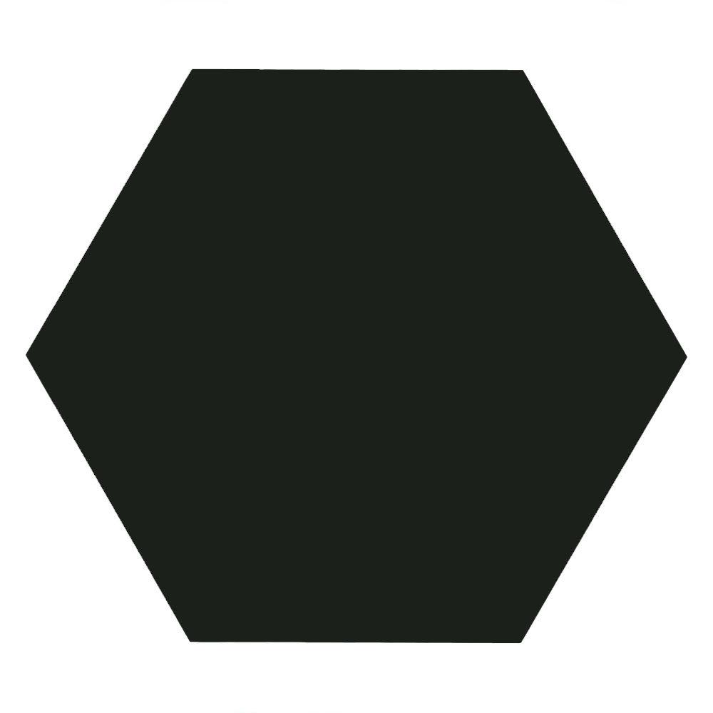 Kai Black Hexagon Wall and Floor Tiles - 258 x 290mm