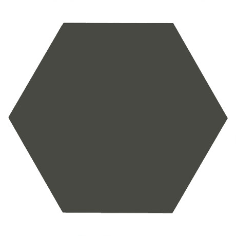 Kai Dark Grey Hexagon Wall and Floor Tiles - 258 x 290mm