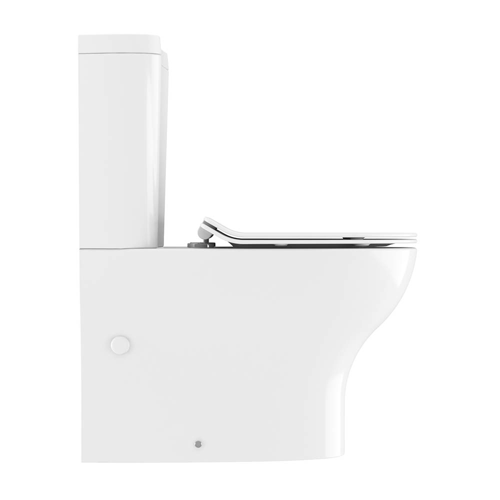Crosswater Kai Compact Close Coupled Toilet + Soft Close Thin Seat