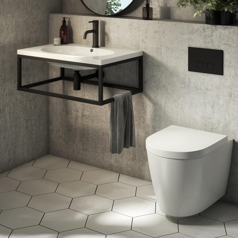 Kai White Hexagon Wall and Floor Tiles | Bathroom Flooring Ideas
