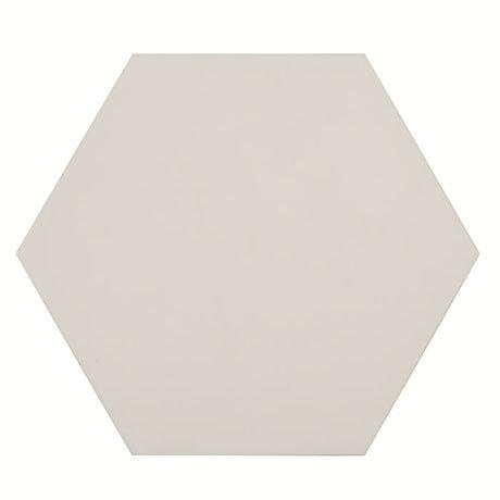 Kai White Hexagon Wall and Floor Tiles - 258 x 290mm