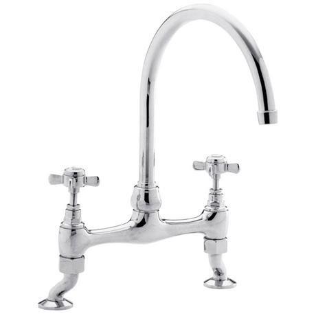 Ultra Traditional Bridge Kitchen Sink Mixer Tap - Chrome - KB306