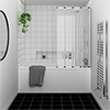 Kent Square Single Ended Bath with Bi-Fold Screen profile small image view 1