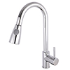 Nuie Side Action Pull Out Rinser Kitchen Tap - KC318 profile small image view 1