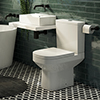 Kyoto Cloakroom Suite (450 Counter Top Basin + Close Coupled Toilet) profile small image view 1
