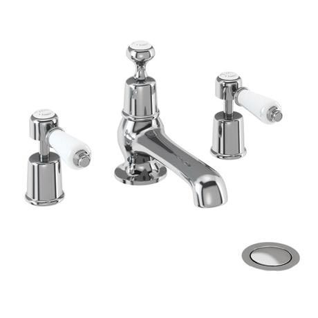 Burlington Kensington - 3 Tap Hole Basin Mixer with Pop Up Waste - KE12