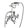 Burlington Kensington Walnut Deck Mounted Bath Shower Mixer profile small image view 1