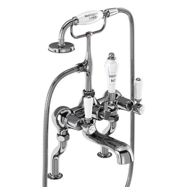 Burlington Kensington - Chrome Deck Mounted Bath/Shower Mixer - KE15 Large Image