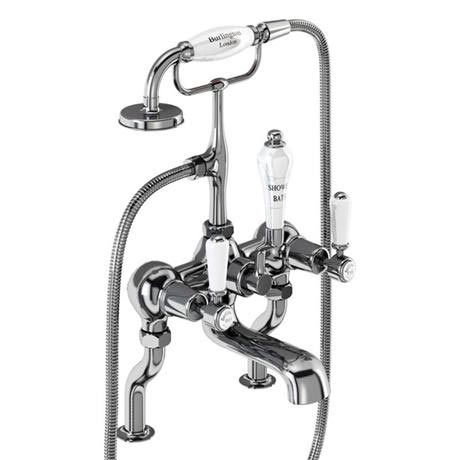 Burlington Kensington - Chrome Deck Mounted Bath/Shower Mixer - KE15