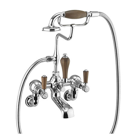 Burlington Kensington Walnut Wall Mounted Bath Shower Mixer