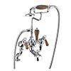 Burlington Kensington Walnut Angled Deck Mounted Bath Shower Mixer profile small image view 1