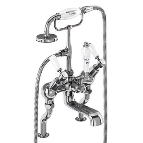 Burlington Kensington - Angled Deck Mounted Bath/Shower Mixer - KE19