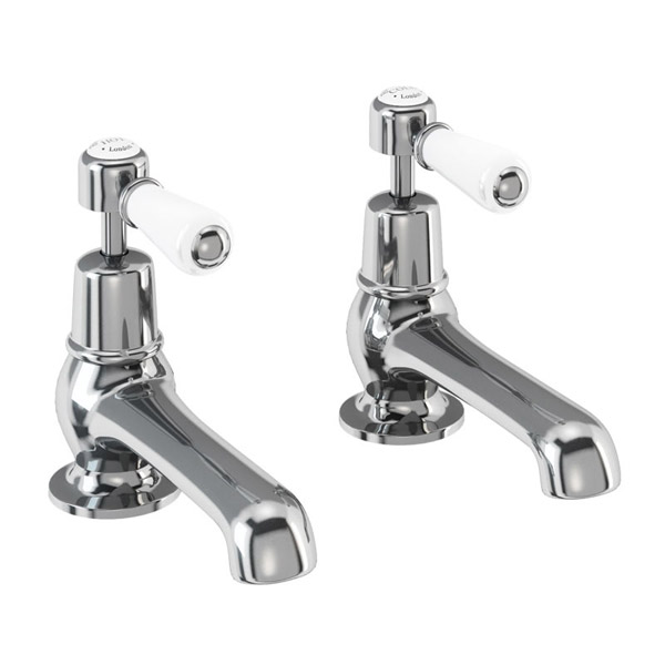 "Burlington Kensington - Chrome Basin Taps 5"" - KE2 Large Image"