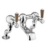 Burlington Kensington Walnut Deck Mounted Bath Filler profile small image view 1