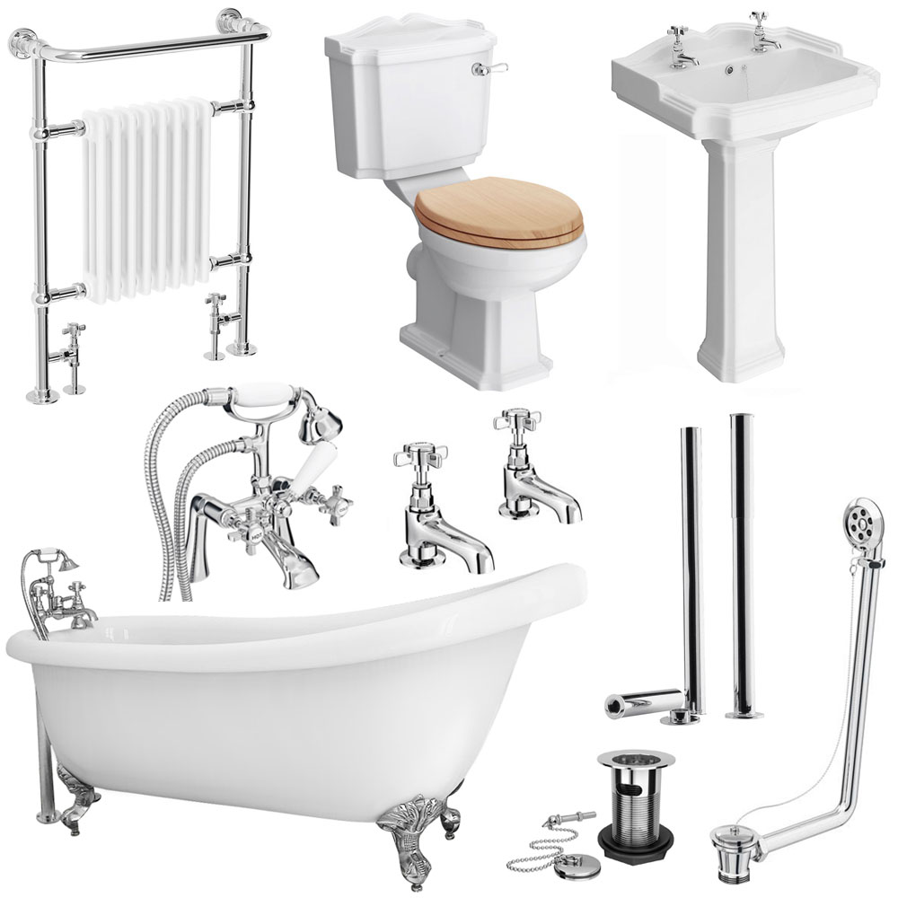 The Kensington Traditional Complete Roll Top Bathroom Package