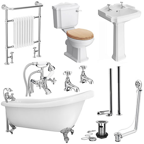 Kensington Traditional Complete Roll Top Bathroom Package (1710mm)