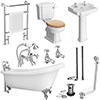 Kensington Traditional Complete Roll Top Bathroom Package (1710mm) profile small image view 1