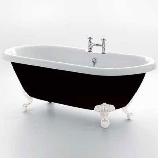 Royce Morgan Kensington 1755 Black Freestanding Bath with Waste Large Image