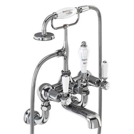 Burlington Kensington Regent - Chrome Wall Mounted Bath/Shower Mixer - KER17