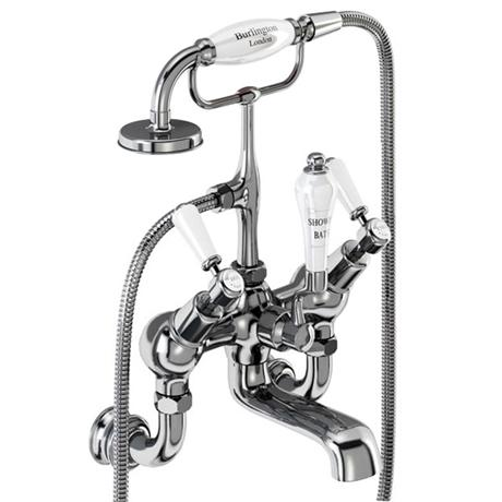 Burlington Kensington Regent - Angled Wall Mounted Bath/Shower Mixer - KER21