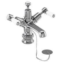 Burlington Kensington Regent - Chrome Basin Mixer Tap with Plug & Chain - KER5 Medium Image