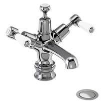 Burlington Kensington Regent - Chrome Basin Mixer Tap with Click-Clack Waste - KER6 Medium Image