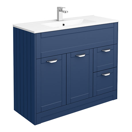 Keswick Blue 1015mm Traditional Floorstanding Vanity Unit