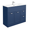 Keswick Blue 1015mm Traditional Floorstanding Vanity Unit profile small image view 1