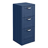 Keswick Blue 350mm Traditional 3 Drawer Storage Unit profile small image view 1