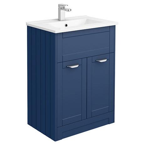 Keswick Blue 620mm Traditional Floorstanding Vanity Unit